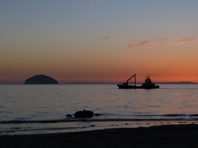 Ailsa Craig and Dredger