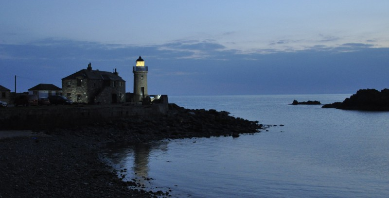 Portpatrick Lighthouse at dusk
