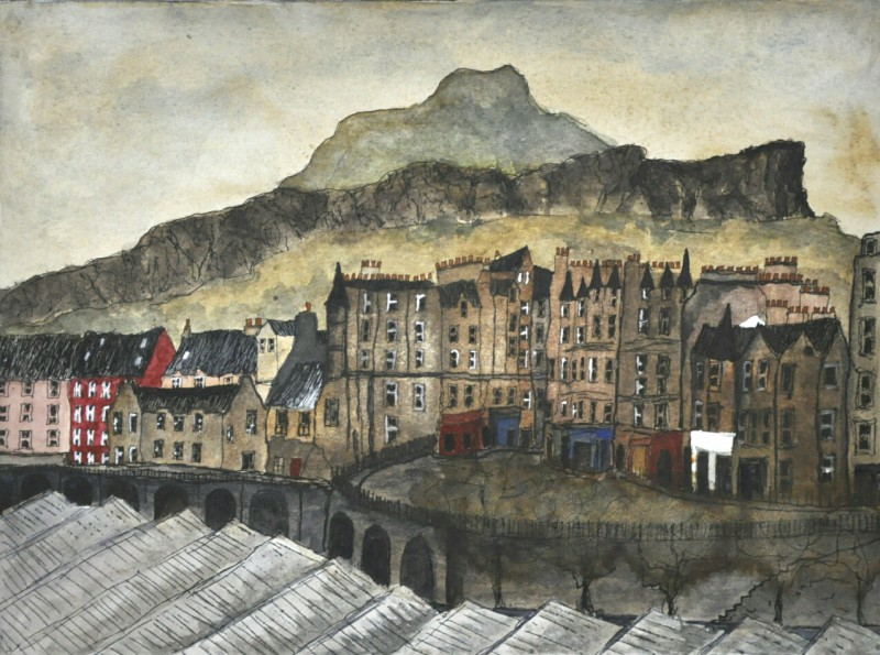 Jeffrey St & Arthur's Seat, Edinburgh