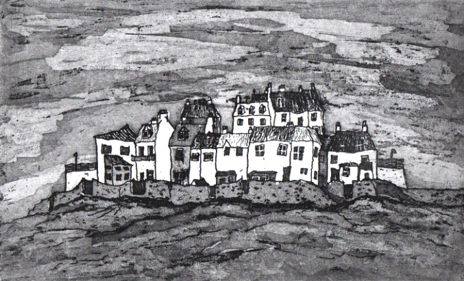 Cellardyke Shoreline (etching & aquatint)