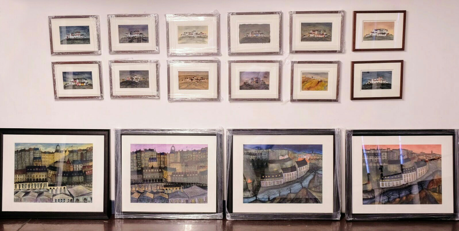 20 Hand-painted etchings of Edinburgh & the East Neuk of Fife