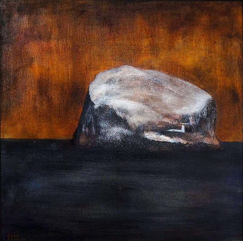 The Bass Rock (Sunset) 80x80cm, oil on canvas