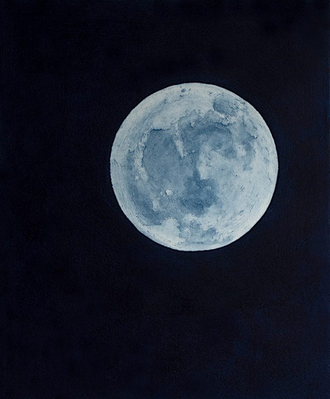 Blue Moon Etching and Aquitint